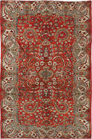 "Hand-knotted Turkish Carpet 5'6"" x 8'6"" Melis Vintage Traditional Wool Rug"