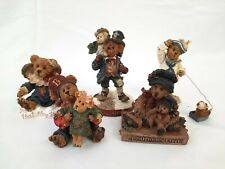 Lot (5) Boyds Bears Bearstone Collection Figurines with Boxes- A Mother's Love