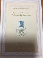 Ersttagsblatt - Sehenswürdigkeiten (Rollenmarken-Dauerserie) - 4/1990