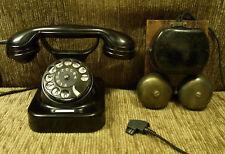 altes antikes SIEMENS Telefon Bakelitgehäuse mit Außenwecker SELTEN V.Sa  TOP!