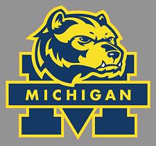 """Michigan Wolverines 6"""" Alternate Logo Premium Vinyl Deccal Sticker - Full Color"""