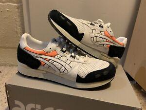 Asics Gel Lyte Tiger H80NK-0190 White Black Orange Shoes Mens 9.5 New