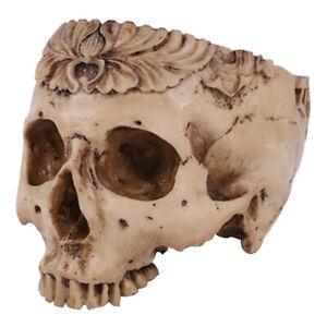 Flower Pot Human Skull Bone Hand Carved Skull Bowl Home Garden Decorations