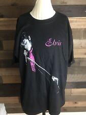 VINTAGE 1999 Elvis Presley Neon Photo Concert Shirt Black Memorabilia Xl  RARE