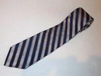 New Brooks Brothers Tie Denim Blue Silver Stripe Woven Luxury 346 Jacquard Silk