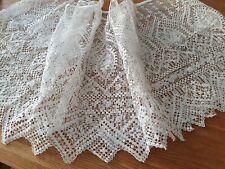 Bas d'aube dentelle au filet d'art rebrodé textile religieux - 70