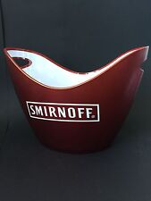 SMIRNOFF VODKA Flaschen Kühler Design Deko Bar Ice Bucket Restaurant NEU OVP