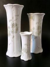 "3x Rosenthal Porcellana Vaso ""MONBIJOU"" CLASSIC ROSE DECORO VERDE cirro porcelain"