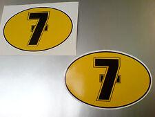 BARRY SHEENE # 7 Motorcycle Helmet TT & Suzuki Fans Stickers Decals 2 off 80mm