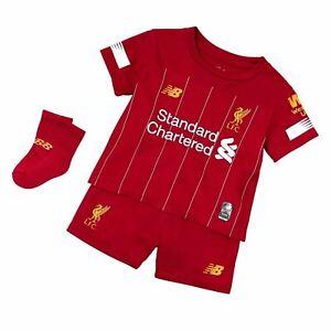 Liverpool Fc Kids Kit Season 2019-20 Home Shirt New Balance Set Top Shorts Socks