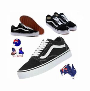 New Van sOld Skool Skate Shoes Classic Canvas Sneaker Black White All Sizes NIB