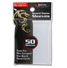 BOARD GAME SLEEVES - 45 x 68mm - BCW 50ct Pack Mini European Card Size