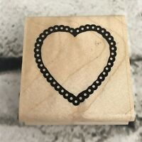 CTMH Close To My Heart Rubber Stamp Groovy Hearts
