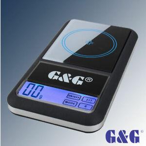 G&G AS Feinwaage Taschenwaage Digital-Waage Goldwaage Präzisionswaage Neuwertig