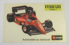 VECCHIO ADESIVO / Old Sticker AUTO BURAGO FERRARI TURBO F1 (cm 9,5 x 6,5)