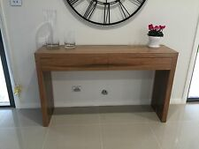 Local Made Solid Spotted Gum Hardwood Timber Byron 2 Drawers Hall Console Table
