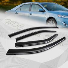For 2012-2015 Toyota Camry Smoke Window Visor Shield W/Chrome Molding+Clip On