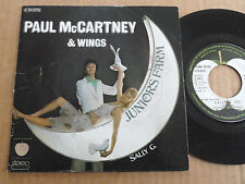 "DISQUE 45T DE PAUL McCARTNEY & WINGS  "" JUNIORS FARM """