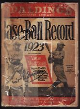 VINTAGE 1923 SPALDING'S (ATHLETIC LIBRARY) BASEBALL RECORD WITH LITTLE RED BOOK