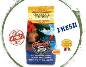 Hawaii Coffee Roasters CHOCOLATE COCONUT 7oz Ground by Hawaiian Isles FRESH