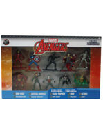 Jada Nano Metalfigs Avengers 10-Pack with Exclusives Marvel Hulkbuster Loki Thor