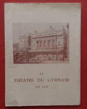 Programme Theatre the Gym J'Y Suis J'Y Rest Raymond Vincy Jean Valmy 1952