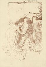 ROBERT ANNING BELL ORIGINAL LITHOGRAPH BATTLEDORE (TENNIS) 1896