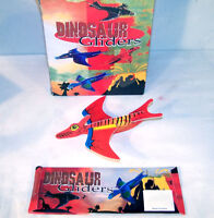 12 DINOSAUR GLIDER dino prehistoric novelty flying toy dinosuars assorted new