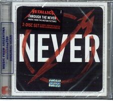 METALLICA THROUGH THE NEVER LIVE SOUNDTRACK SEALED 2 CD SET NEW 2013