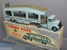 "DINKY TOYS MODEL No.582 PULLMORE CAR TRANSPORTER ""6 RIVET TRAILER"" VN MIB RARE"