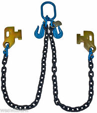 "G100 3/8"" Cargo Shipping Sea Container Chain Bridle Loading Chain Tow Truck"
