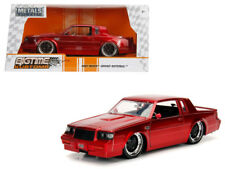 1987 Buick Grand National Die-cast Car 1:24 Jada Toys 8 inch Wine with Rims