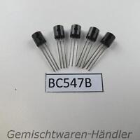 5x Transistor BC547B bipolar NPN 50V 100mA 500mW TO92