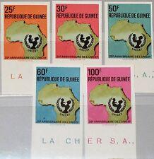 Guinea 1972 654-58 B 625-29 onu onu conf. for human evironment OVP protección del medio ambiente **