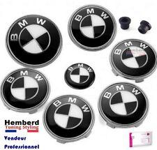7 logos BMW Noir et blanc Logo insigne emblèmes 82 mm Motorsport Set complet