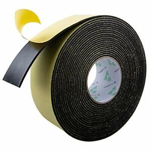 High Density Foam Insulation Tape Adhesive Rubber Strip, Seal 33Ft x 1/8'' x 2''