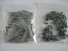 Lot 100 Thunderjet Track Connectors/Joiners and 50 New Metal Locks (Lot D)