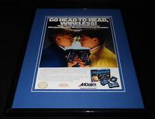 Acclaim Double Player 1988 Nintendo 11x14 Framed ORIGINAL Vintage Advertisement