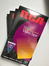 Lot of 4 RCA 6 Hour T120 VHS Video Cassette Tapes Blank Unopened Sealed NEW