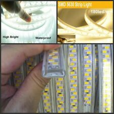 180leds/m 220V led strip 5730 5630 SMD warm white waterproof Flexible tape light