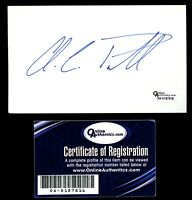 Colin Powell signed autograph 3x5 card Secretary of State Online Authentics Cert