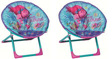 Twin Pack Trolls Childrens Folding Moon Chairs (2 x chairs)