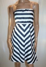 EMERSON Brand Navy White Striped Strapless Dress Size 8 BNWT #ST52