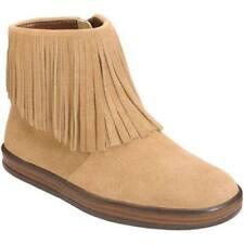 Aerosoles Women's Good Fun Fringe Boots SZ 6.5 LIGHT TAN NEW IN BOX
