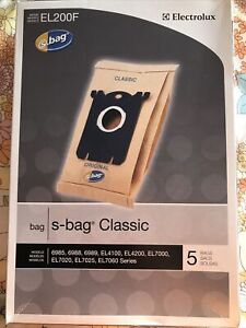 Box Of 5 Electrolux S-bag Classic Vacuum Cleaner Bags Model EL200F Unopened