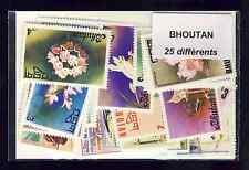 Bhoutan - Bhutan 25 timbres différents oblitérés