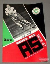 1966-67 AHL Quebec Aces Program Noel Price Cover