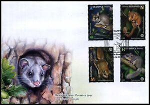 2021 Belarus, fauna, mammals, rodents, FDC