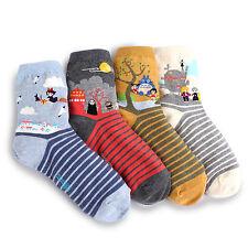 Women's Miyazaki Animation Socks (4-Pack) Girls Fashion Gift Totoro Howl KIKI VJ