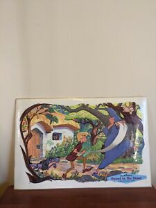 Vintage 1961 Walt DISNEY Productions Kids Table Placemats DINING KITCHENWARE